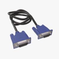 3d model vga cable
