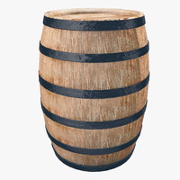 wooden wine barrel 3ds
