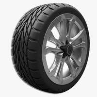 car tire rim modelling 3ds
