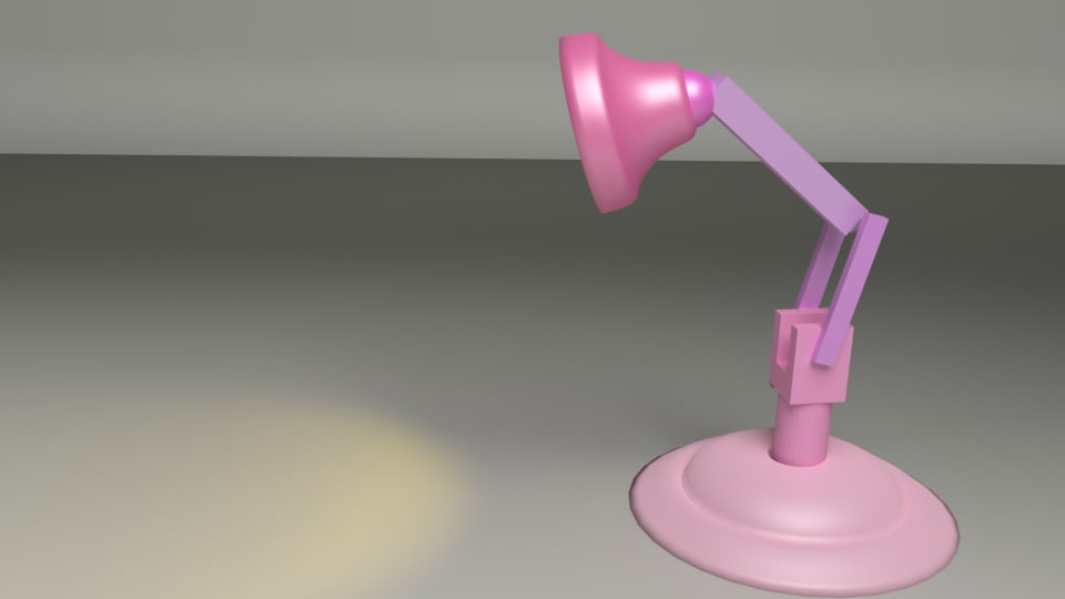 3d rigged lamp animation