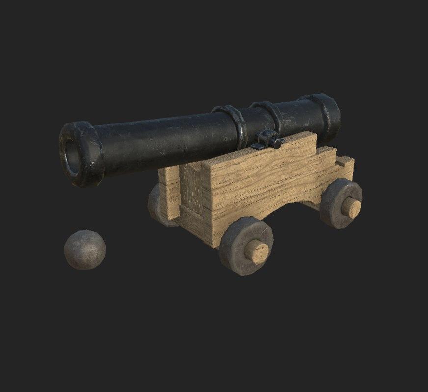 3d gun ship model