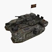 lucius baneblade tank 3d max