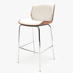 boss design kruze bar stool 3d model