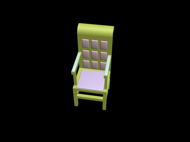3d model of simple chair
