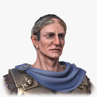 historical gaius julius caesar 3d model