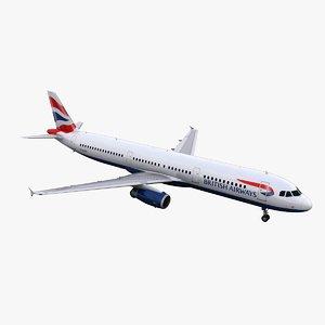 3d model a321 british airways