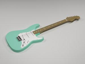 3d model of electric guitar fender stratocaster