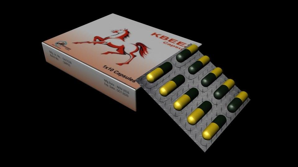 capsules sexual power 3d model