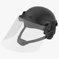 3d police riot gear helmet model
