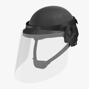 police riot gear helmet c4d