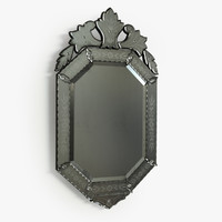 3d venetian mirror model