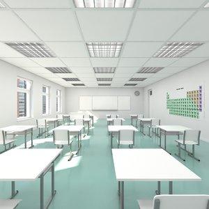 classroom realistic 3d max
