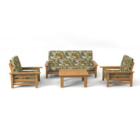 3d model sofa set country