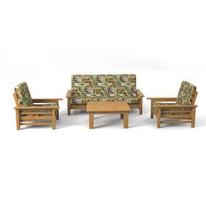 3d model sofa set country