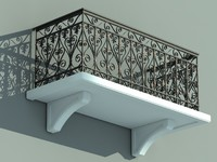 3d architectural balcony model