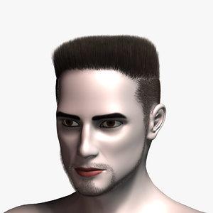 virtual hair 10 3d model
