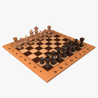 chess table 3 3d model