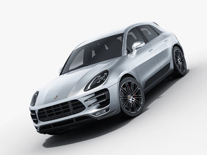 3d porsche macan turbo model