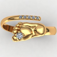 3d model of designer ring