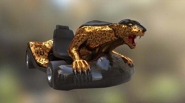 3d model leopard kart gokart