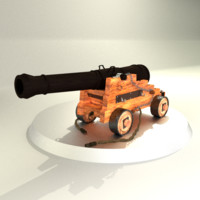 3d realistic medieval cannon model
