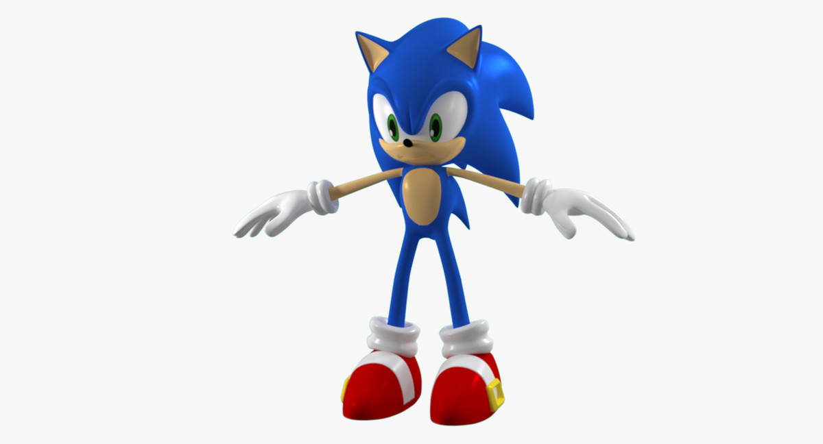 sonic rigged animation max