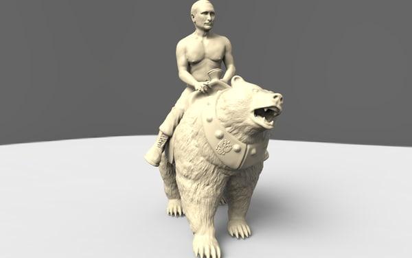 obj putin bear