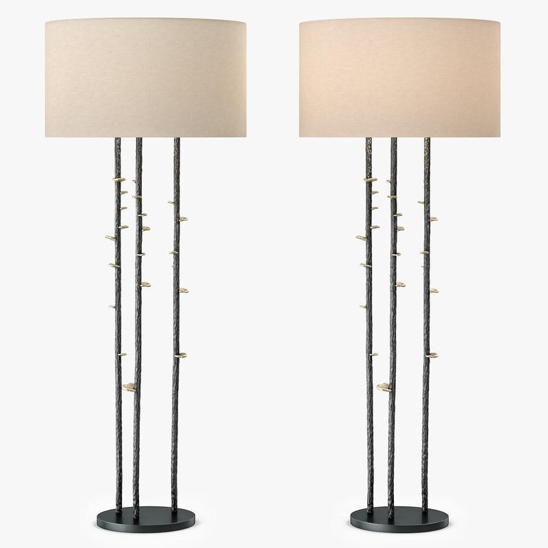3d tall vale floor lamp model