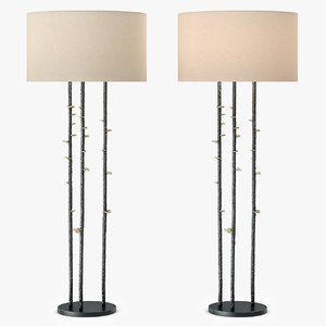 3d tall vale floor lamp model