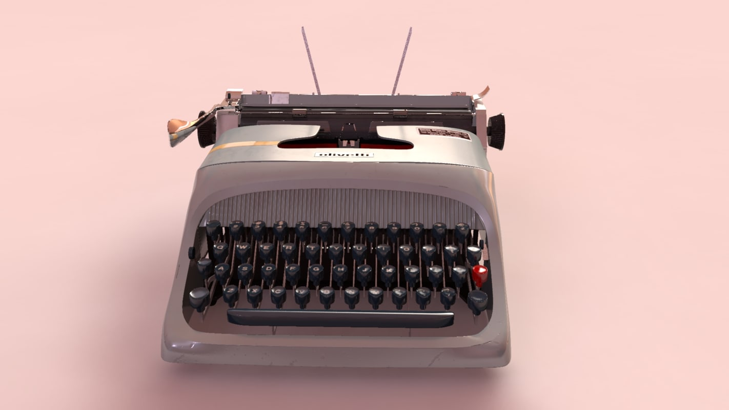 olivetti underwood typewriter 3d model
