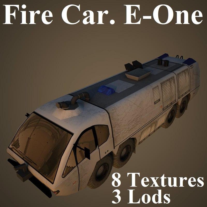 firetruck car 3d model
