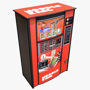 noodle vending machine 3d max