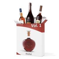 vol 1 alcohol bottles 3d model