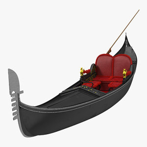 3d model venice luxury gondola