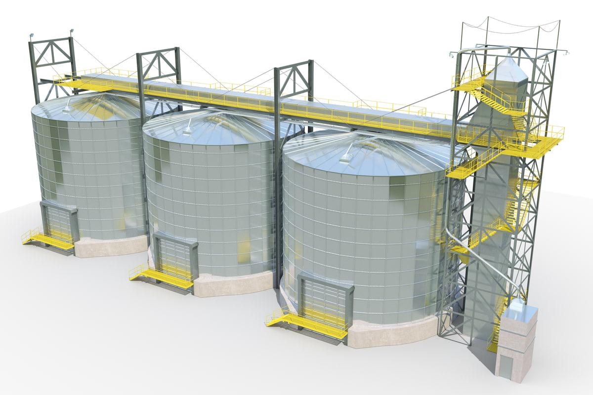 silos 3d max