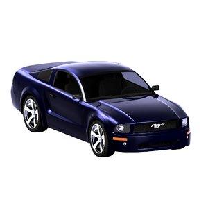 mustang gt 3d model