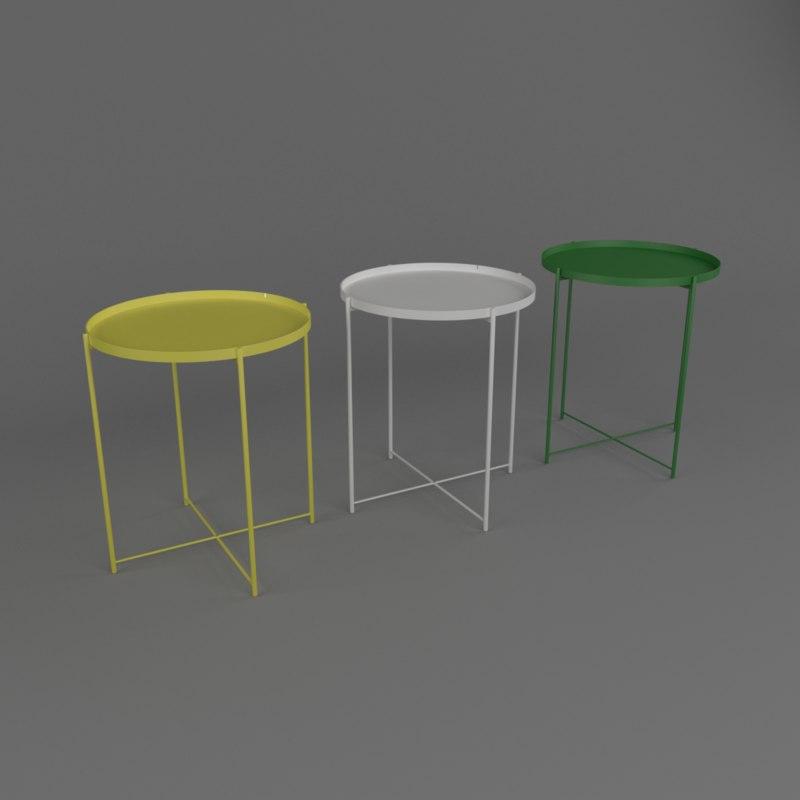 ikea gladom table 3d max