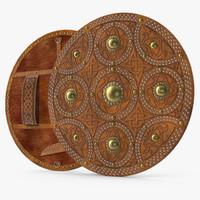 3d model scottish targe shield