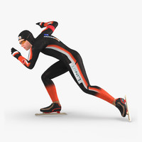 3d speed skater 2 pose model