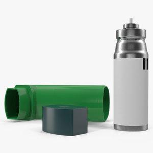 inhaler spray 3d 3ds