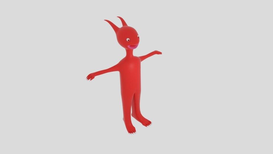 red split head alien 3ds