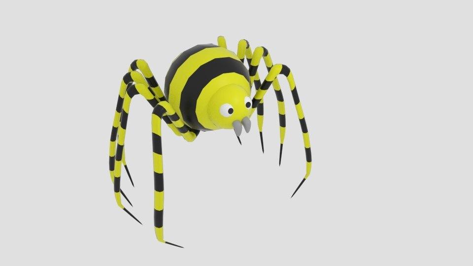 3d sphere strip spider model