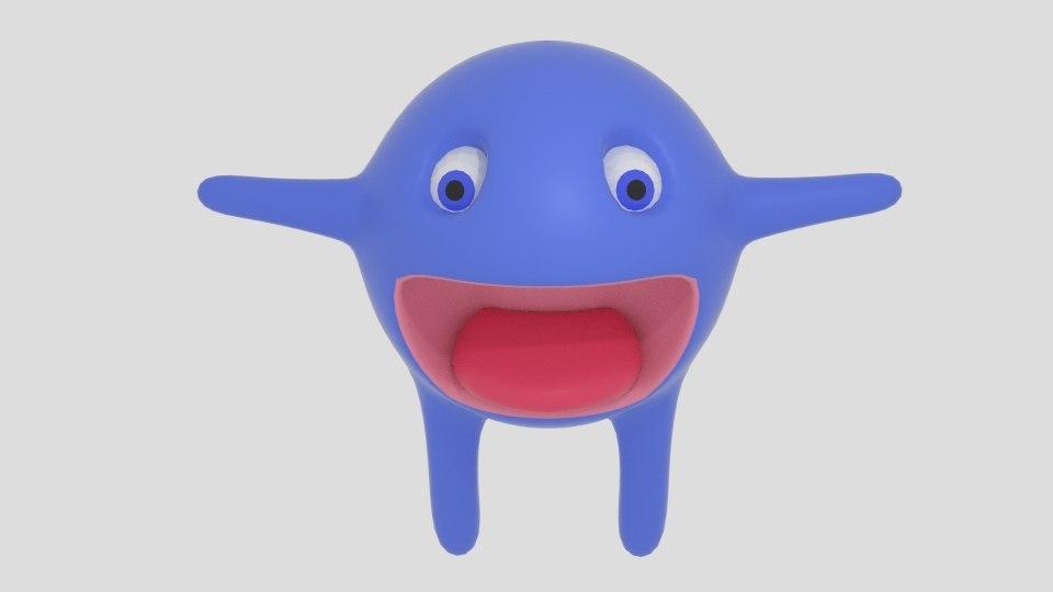 3d model spheremonster sphere monster