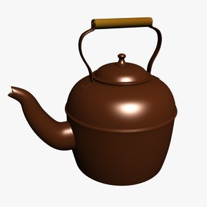 3d tea kettle model