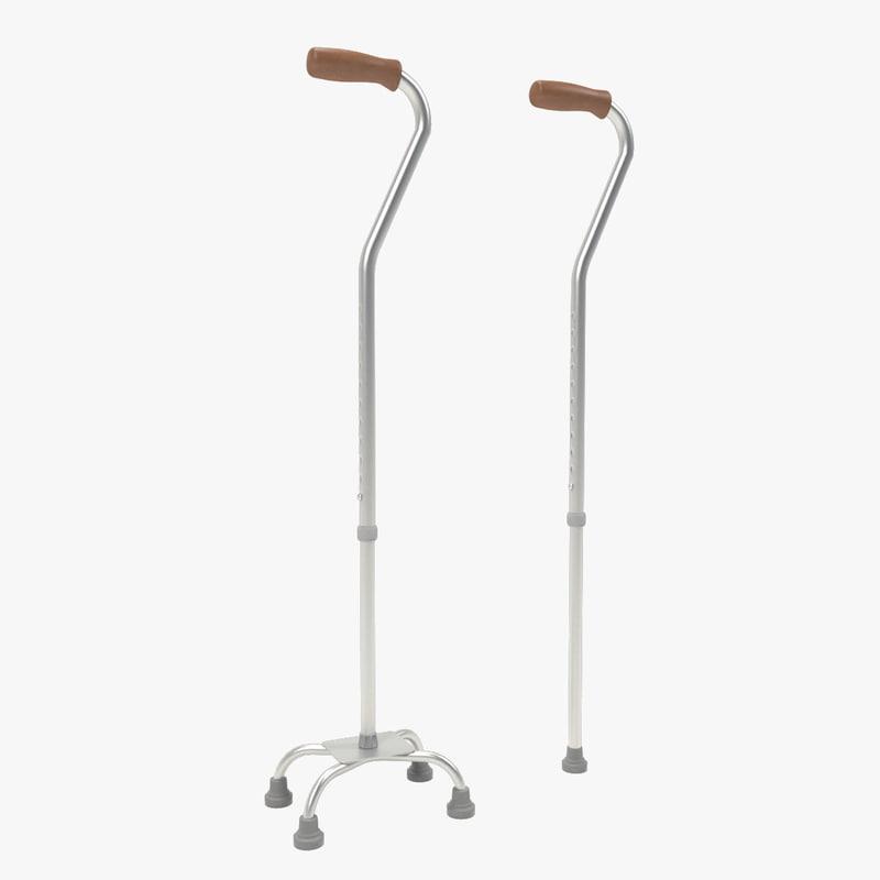 walking stick set 3d max