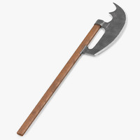 3ds bardiche long poleaxe weapon