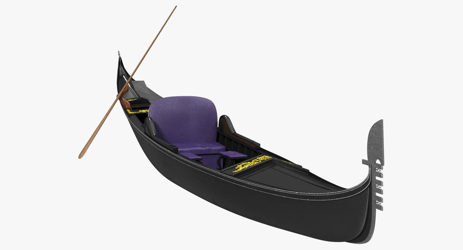 3d gondola boat