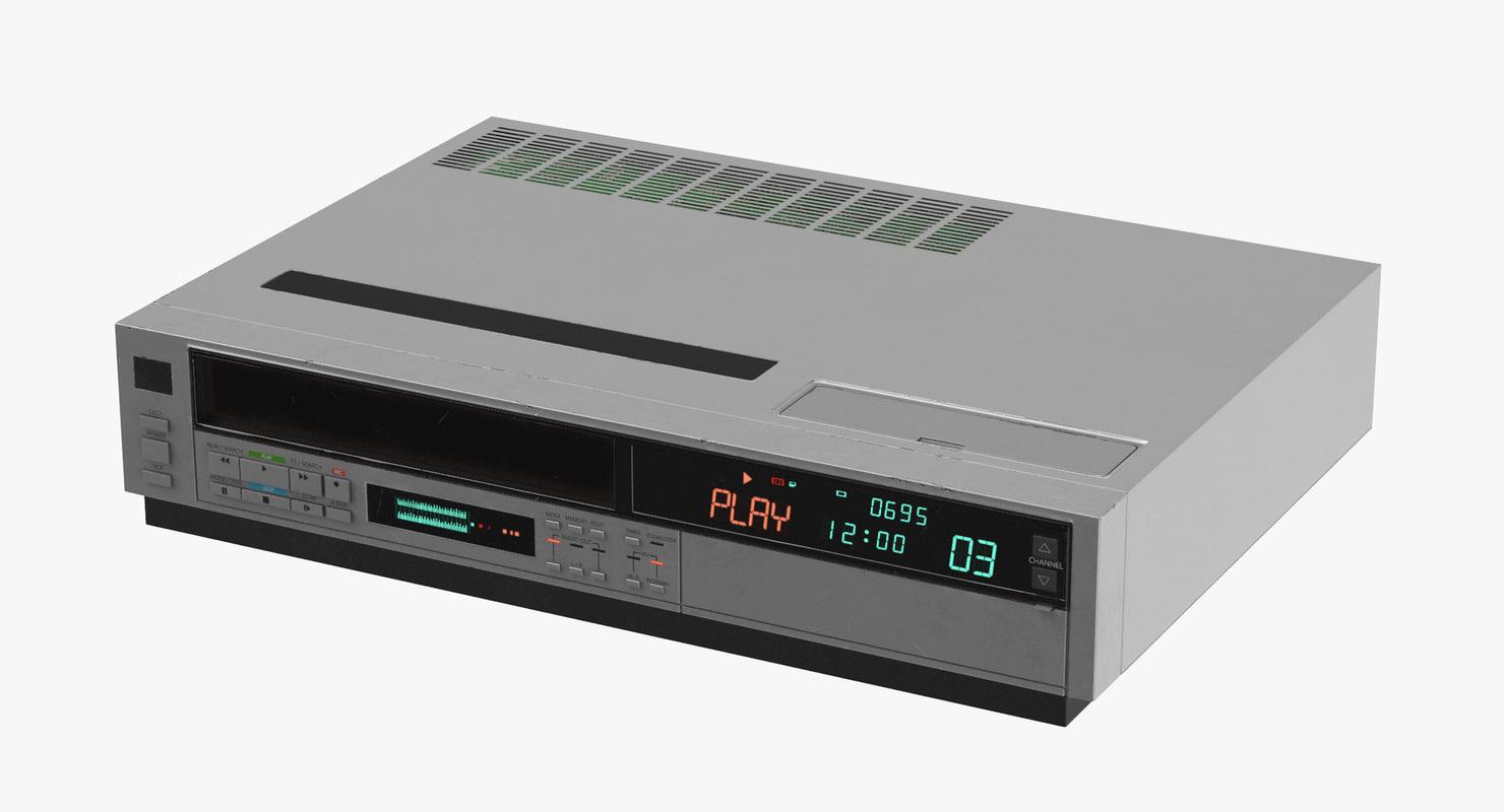 3d model vcr 80s -
