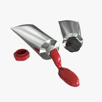 3d model paint tubes