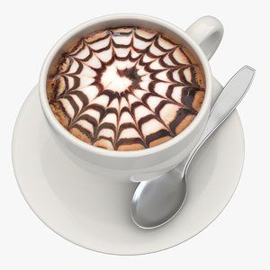 3d model hot chocolate milk 4